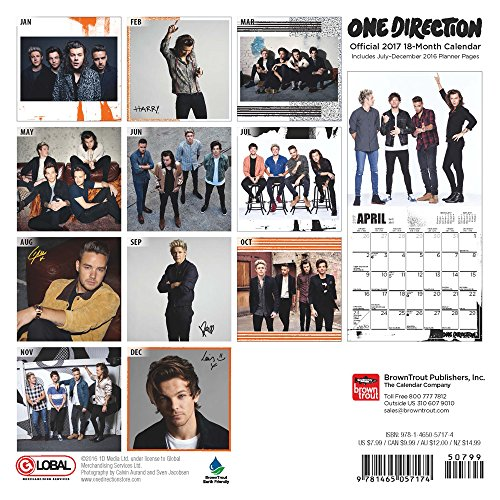 Calendrier One Direction 2017 - Boutique One Direction