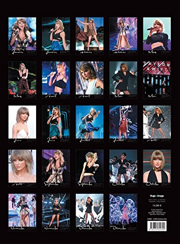 Calendrier mural taylor swift 2017 boutique taylor swift for Calendrier mural 2017