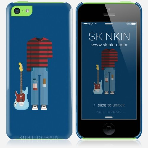 coque iphone 5c de chez skinkin design original kurt cobain par frederico birchal boutique. Black Bedroom Furniture Sets. Home Design Ideas