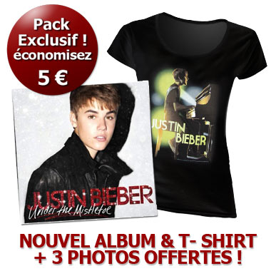 Fan Pack Cd Dvd Tee Shirt Justin Bieber Under The Mistletoe