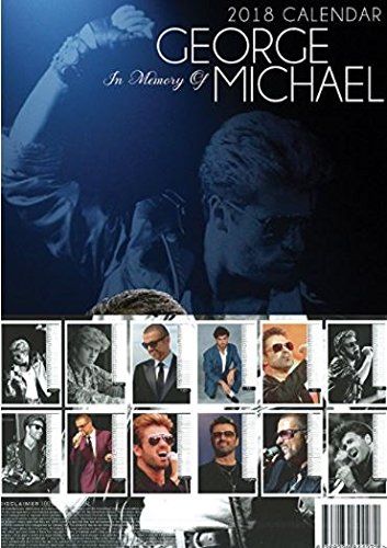 George michael calendrier 2018 grande a3 taille poster for Calendrier mural gratuit