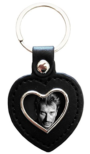 kdomania porte cl coeur cuir et m tal johnny hallyday boutique johnny hallyday. Black Bedroom Furniture Sets. Home Design Ideas