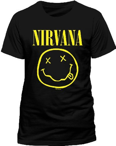 Johnny Hallyday Boutique Officiel >> Live Nation Nirvana - Smiley - T-shirt - Col Ras Du Cou - Manches Courtes - Homme - Boutique des ...