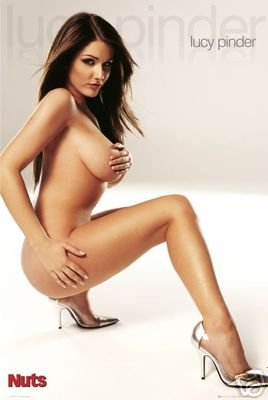 POSTER LUCY PINDER Nuts - Hot Sexy Girl BABE RARE NEW