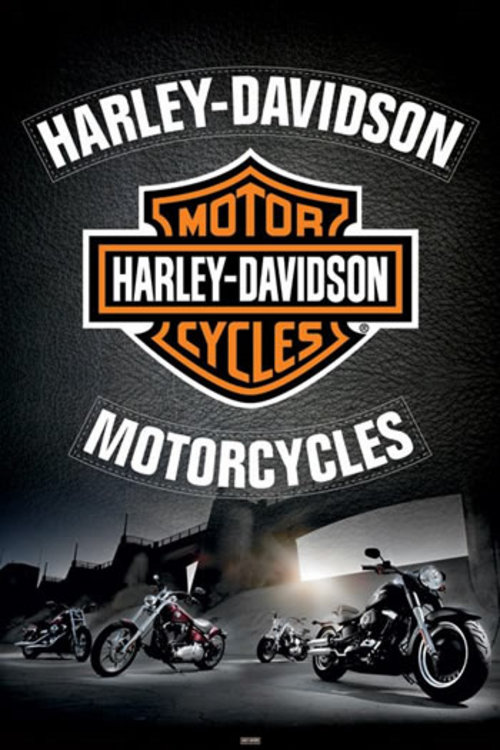 boutique harley davidson t shirt casquettes poster. Black Bedroom Furniture Sets. Home Design Ideas