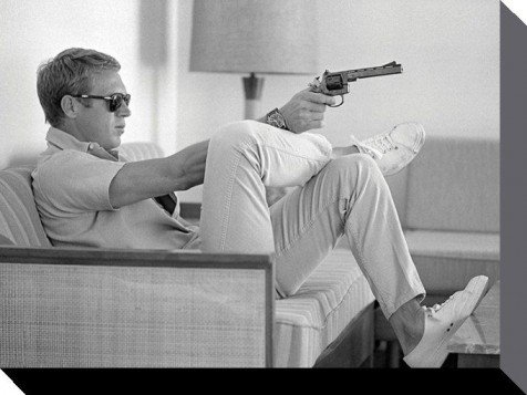 Posters steve mcqueen poster reproduction sur toile for Poster sur toile