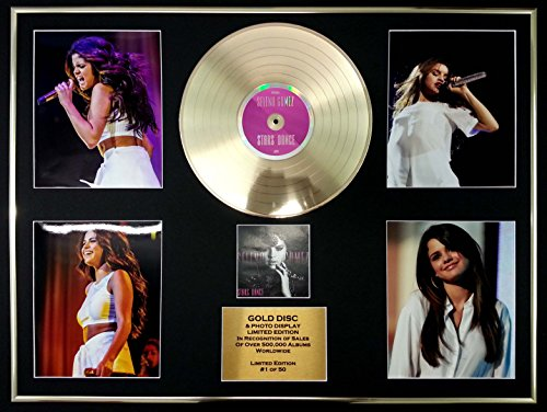 selena gomez cadre geant disque d 39 or cd vinyle photos edition limitee certificat d. Black Bedroom Furniture Sets. Home Design Ideas