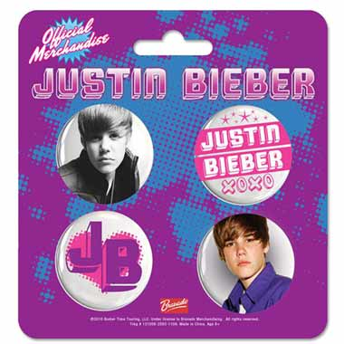 Set 4 Badges Justin Bieber Xoxo