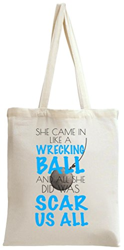 She came in like a wrecking ball slogan tote bag for Jim beam signature craft for sale