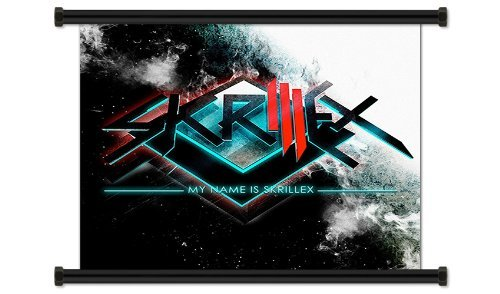 skrillex american electro house dj fabric wall scroll. Black Bedroom Furniture Sets. Home Design Ideas