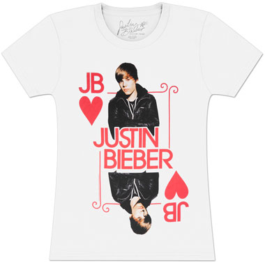 T Shirt Justin Bieber King Of Hearts