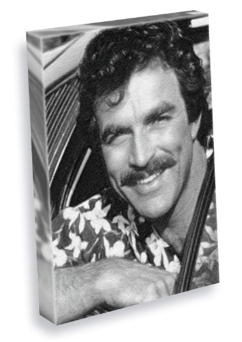 tom selleck canvas print a5 signed by the artist js002 boutique tom selleck. Black Bedroom Furniture Sets. Home Design Ideas