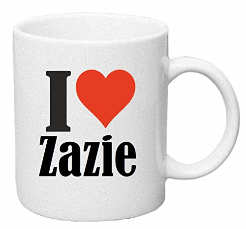tasse de caf tasse th coffee mug i love zazie hauteur 9 cm de diam tre 8 cm. Black Bedroom Furniture Sets. Home Design Ideas