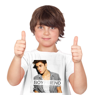 Tee Shirt Pour Gar On Boyfriend Open Justin Bieber