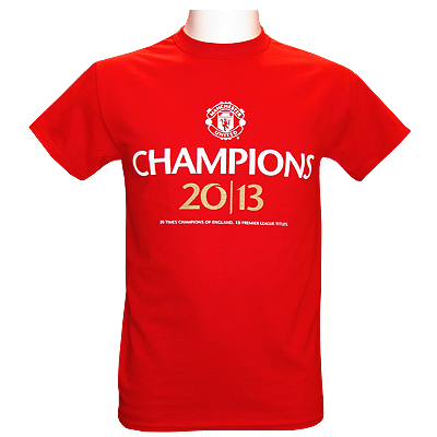 tee shirt homme manchester united champions 2013 boutique manchester united. Black Bedroom Furniture Sets. Home Design Ideas