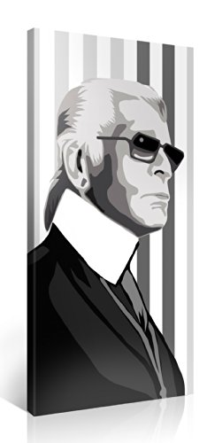 Toile karl lagerfeld 100x50cm d coration murale tableau for Tableau pret a accrocher