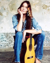 Carla Bruni 50x40cm Photo Couleur