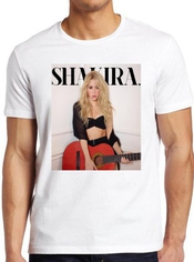 Shakira Guitar 2014 Album Cover Feat Rihanna Barcelona T-shirt Unisex Men Women