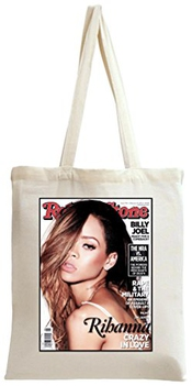 Rihanna Rolling Stones Magazine Cover Tote Bag