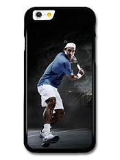 Roger Federer Playing Blue & Black Tennis Player Coque Pour Iphone 6