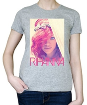 Rihanna Singer Retro Portrait Graphic Design Womens T-shirt