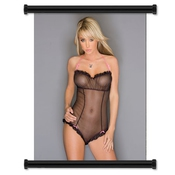 Sara Jean Underwood Sexy Hot Model Fabric Wall Scroll Poster (16 X 20) Inches
