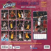 Calendrier Cleveland Cavaliers Lebron James 2017