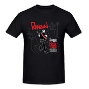Renaud Tourne Rouge Sang Homme Tee Shirts XXXX-L