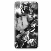 Cache Batterie / Coque Remplacement Samsung Galaxy Grand Prime Johnny Hallyday - - Pele Mele B -