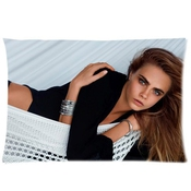 Cara Delevingne Pillowcase/taies D'oreillers Custom Pillow Case/taies D'oreillers Cushion Cover 20 X 30 Inch Two Sides