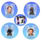 Johnny Hallyday - Verre Whisky Johnny Hallyday Set De 4