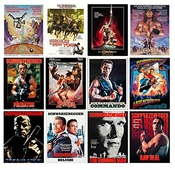 Calendrier Wall 2017 [12 Pages 20x30cm] Arnold Schwarzenegger Vintage Movie Poster