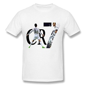 Men's 2015 CR7 Cristiano Ronaldo Real Madrid UEFA T-shirt - M White