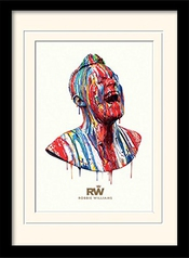 Robbie Williams Poster De Collection Encadré - Paint Head (40 X 30 Cm)