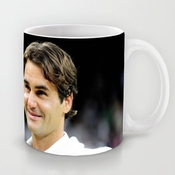 Xox-t Uique Gift Choice - White 11 Oz Classic White Ceramic Mugs Cutom Design With Roger Federer Tennis Player One Handed Backhand Coffee Mugs/tea Mugs/drink Cups - Dishwasher And Microwave Safe Color 20