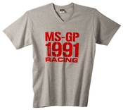 T-shirt Michael Schumacher Ms Gp 1991, Gris