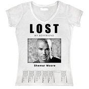 T-shirt Sublimation Fille Lost My Boyfriend Shemar Moore