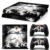 Richipy Stickers Cristiano Ronaldo Handsome Posse Vinyl Anti-slip Host Protective Sticker Skin & 2pcs Controller Decals For Ps4 By Richipy Stickers