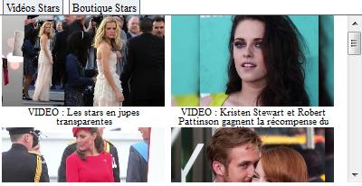 Vidéos Stars sur iGoogle