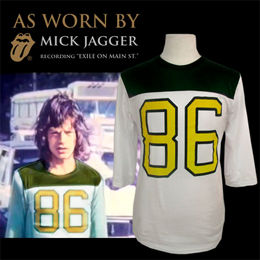 Box Set As Worn By Tm Mick Jagger 86 Football Jersey