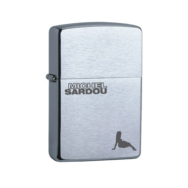 Briquet Metal Michel Sardou