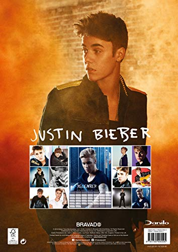 Calendrier Justin Bieber Official 2019 - A3 Wall Format