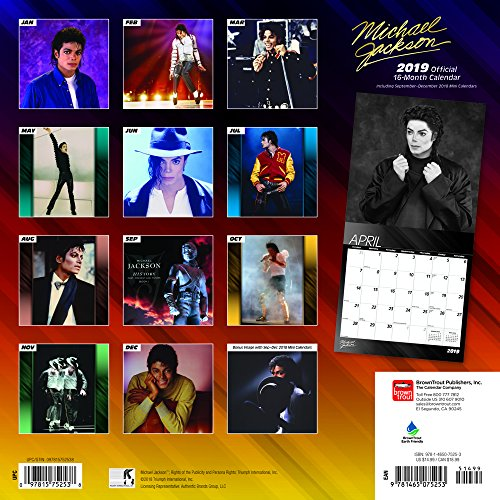 Calendrier Michael Jackson Official 2019