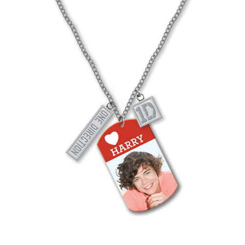Collier Dog Tag One Direction - Design: Photo Harry