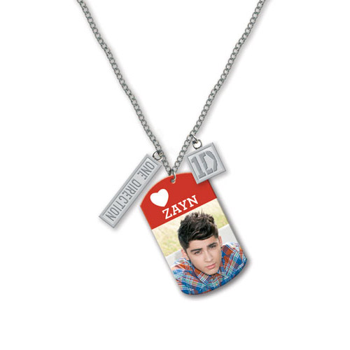 Collier Dog Tag One Direction - Design: Photo Zayn