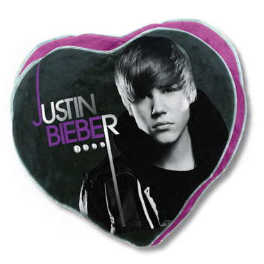 Coussin Justin Bieber Coeur