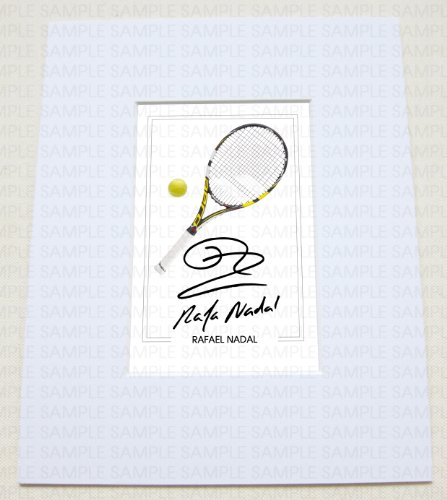 Mounted Rafael Nadal Rafa Tennis World Champion Wimbledon Signed 10x8 Inch Mount With Printed Autograph Photo Print Photograph Autographed Poster Jersey Shirt Gift Present Xmas Christmas Birthday By Www Mountedgifts Co Uk Boutique Rafael