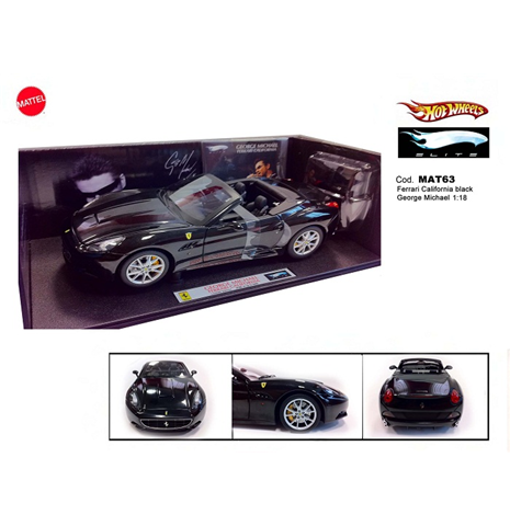 Maquette Ferrari California Black George Michael 1:18 Elite