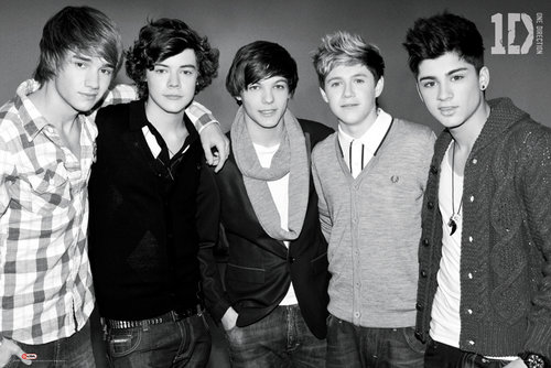 Maxi Poster One Direction B&w