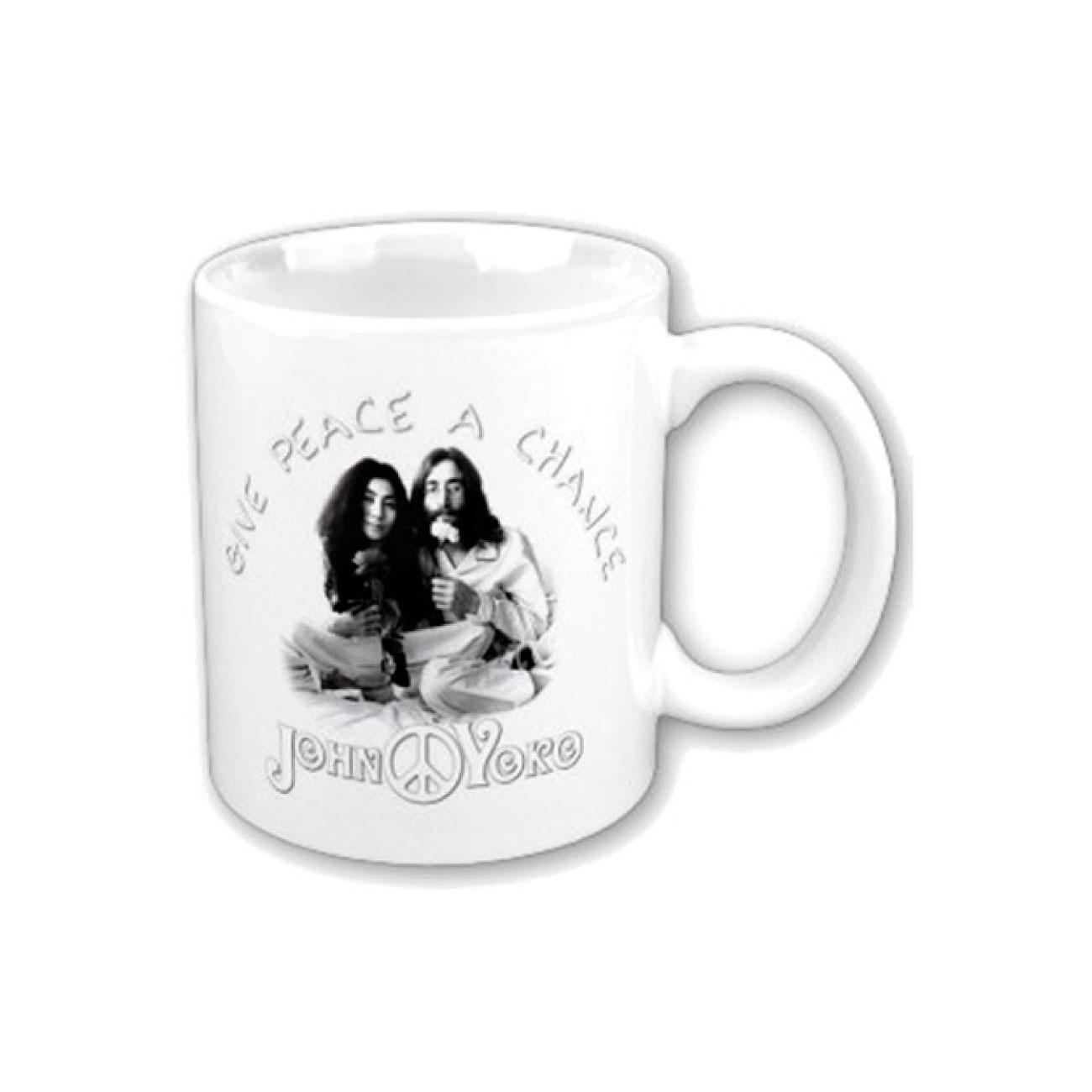 Mug Give Peace A Chance John Lennon. Produit Officiel Emi Music.